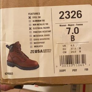 Size 7 red wing women's
